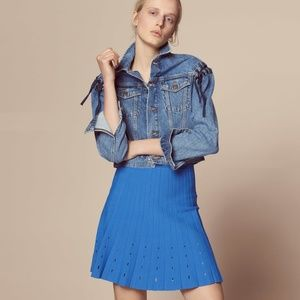 Sandro Skater skirt with Cut-Out Details 1/3 NEW